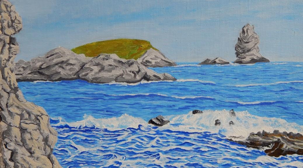 Fekete József_026. A tenger zúgása (Adriai-tenger, 1979) 40x30 cm